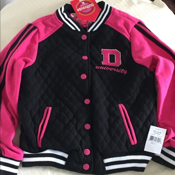 Dollhouse Little Girls  Hooded Varsity Jacket